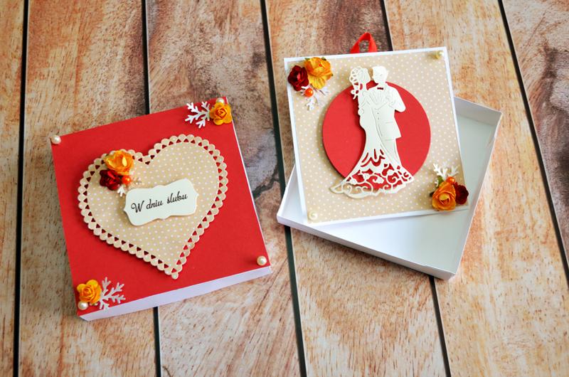 Kartka w pudełku – ślubna 2