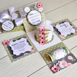 Exploding box – floral wedding [02]