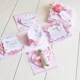 Exploding box – floral wedding [05]