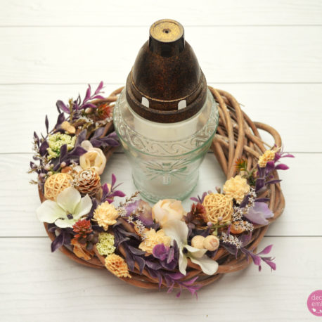 wianek wiklina fiolet krem 1-2
