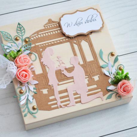 drewniana pamiątka ślubna