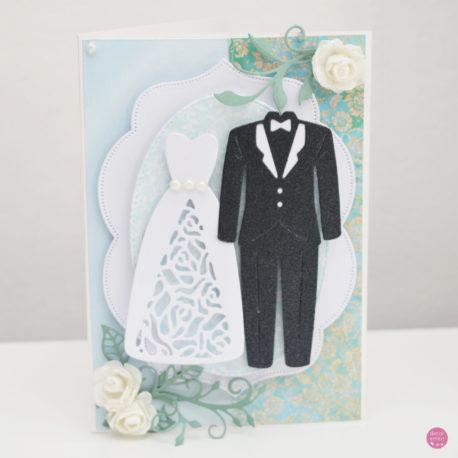 kartka ślubna garnitur suknia 1a