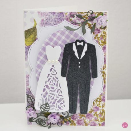 kartka ślubna garnitur suknia 2a