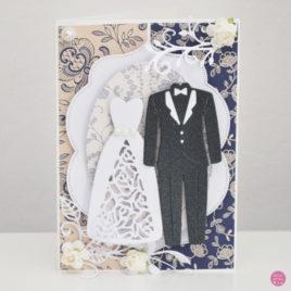 Kartka ślubna – garnitur i suknia [4]