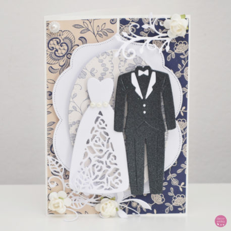 kartka ślubna garnitur suknia 5a