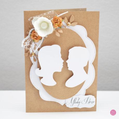 kartka ślubna rustykalna 2