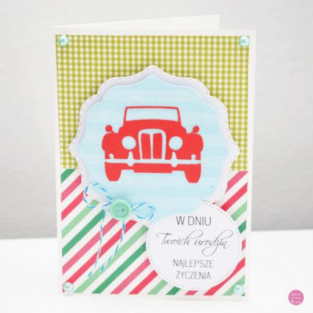 kartka urodzinowa auto 1