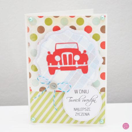 kartka urodzinowa auto 2