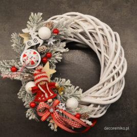 Wianek świąteczny -zmrożona czerwień