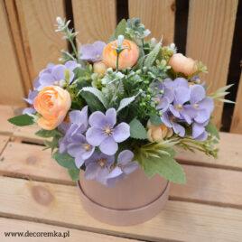 Flowerbox – fiolet z brzoskwinią