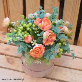 Flowerbox – eukaliptus z piwonią